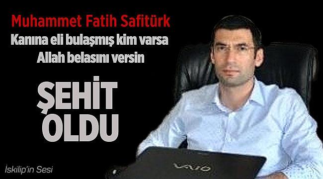 Derik kaymakamı Muhammed Fatih Safitürk şehit oldu