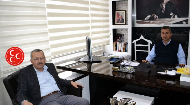 MHP yönetimi Belediye Başkanını ziyaret etti