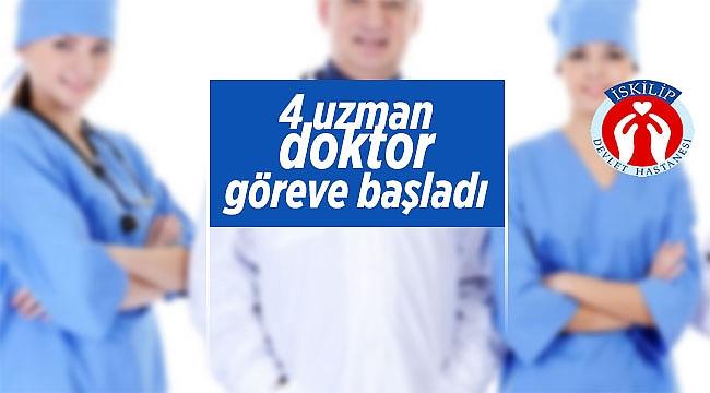 Hastanemizde 4 uzman göreve başladı