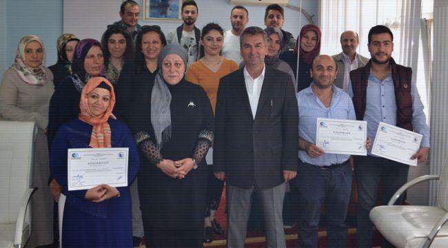 İskilip'te 30 kişi girişimcilik sertifikasını aldı