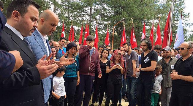 Ülkü Ocakları Genel Başkanı şehit Aybüke'nin cenazesine katıldı