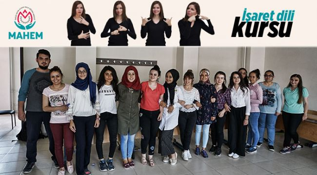 İskilip'te ilk kez işaret dili kursu açıldı