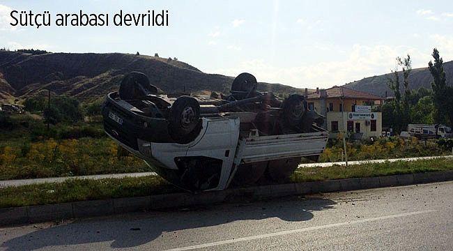 Kızılanlık virajında trafik kazası