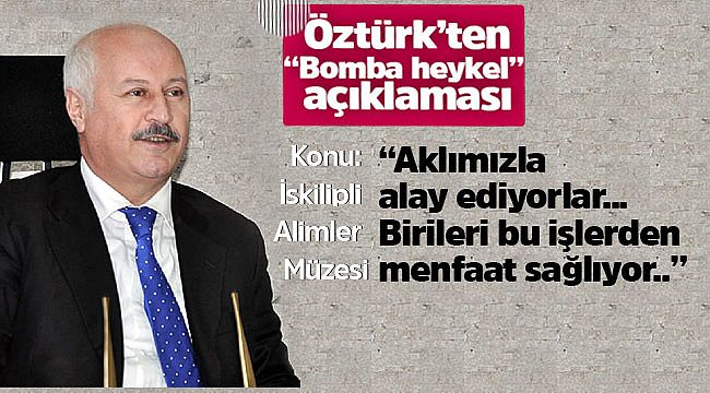 Orhan Öztürk'ten heykel açıklaması