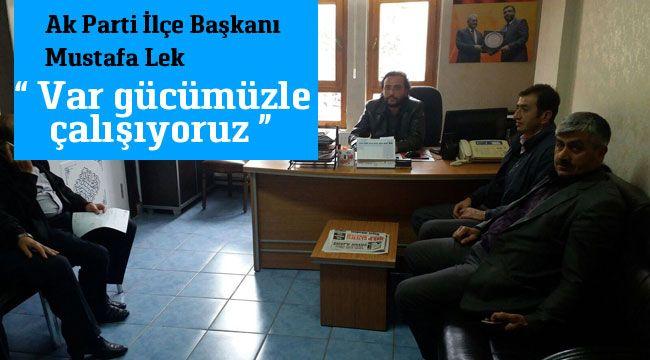 Mustafa Lek vatandaşların taleplerini dinliyor