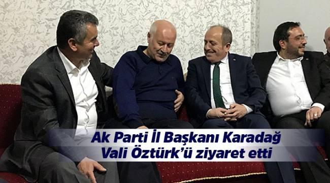 Ak Parti İl Başkanı Karadağ'ın İskilip ziyareti