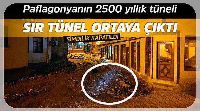 İskilip'in altından geçen tünel bulundu