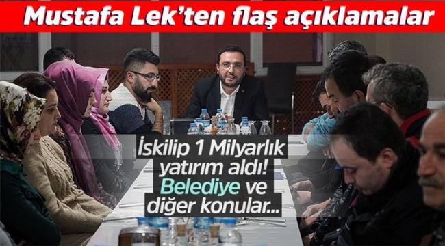 Mustafa Lek gazetecilerle biraraya geldi