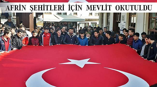 İskilip'te Afrin şehitlerine mevlit okutuldu