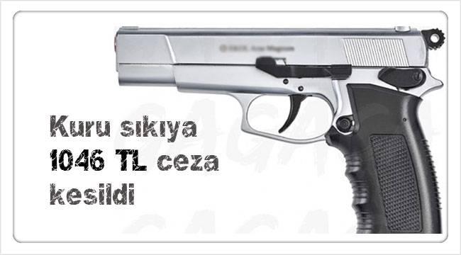 Çorum'da kuru sıkı tabanca taşıyana ceza kesildi