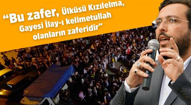 Mustafa Lek'ten zafer konuşması