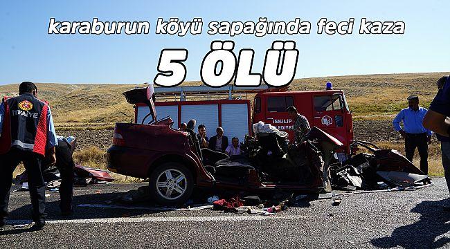 İskilip'te feci kaza 5 ölü