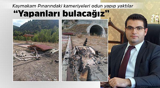 Yüz karaları! Kaymakam Pınarındaki kameriyeyi yaktılar