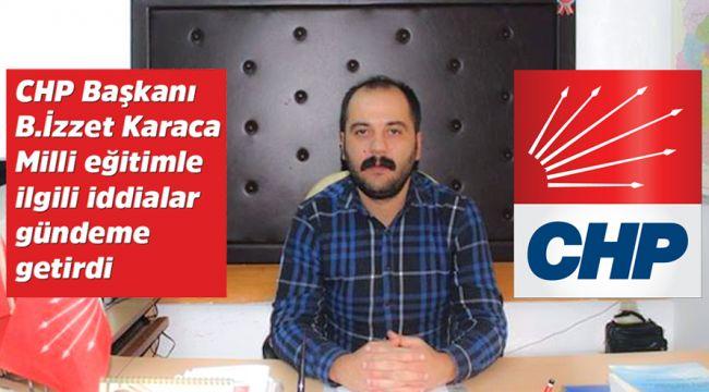 CHP İlçe Başkanı Karaca basın toplantısı düzenledi