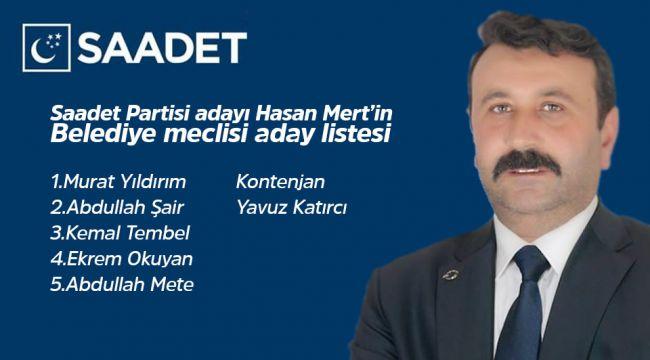 İşte Hasan Mert'in belediye meclis adayları
