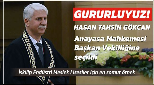 Hasan Tahsin Gökcan Anayasa Mahkemesi Başkan vekili oldu