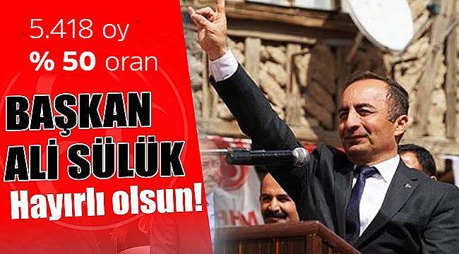 MHP'li Ali Sülük açık ara kazandı