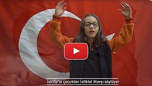 İskilip'in çocukları İstiklal marşı söylüyor