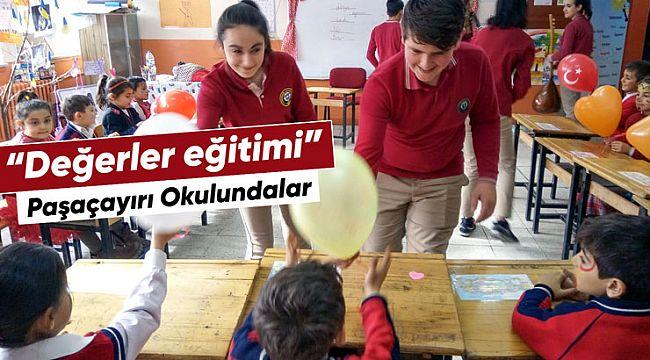 Akşemseddin Anadolu Lisesi 30 kişilik ekiple Paşaçayırı okulunda