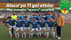 İskilipspor, Alaca'da  gol oldu yağdı