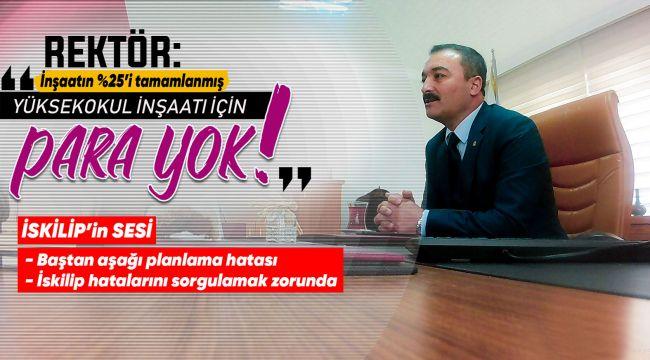 Rektör Öztürk İskilip'te gazetecilerle biraraya geldi