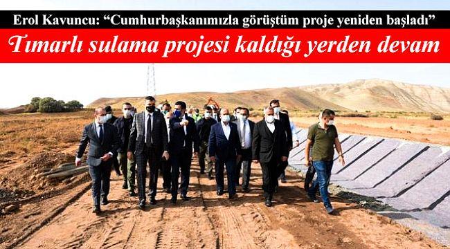 Çorum Çankırı Sulama projesi yeniden başladı