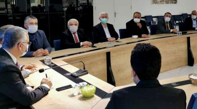 Yusuf Kaya ilçe başkanları toplantısına katıldı