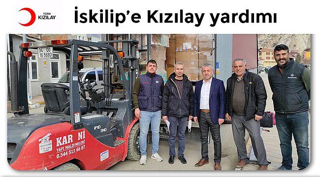 İskilip'e Türk Kızılayından 9 palet yardım