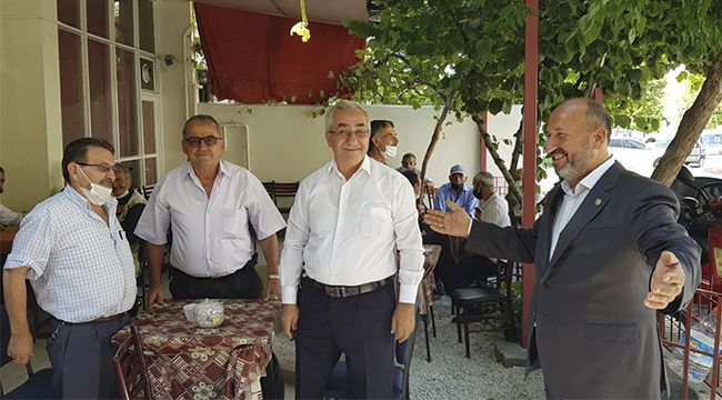 Kavuncu, Ulukavak'ta vatandaşlarla buluştu