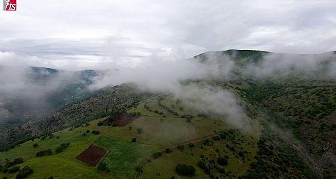 Bulutların üzerinden İskilip kırsalı