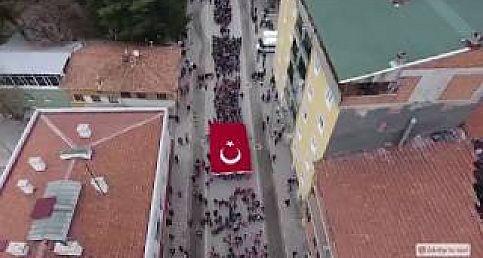 İskilip'te Bayrak Yürüyüşü